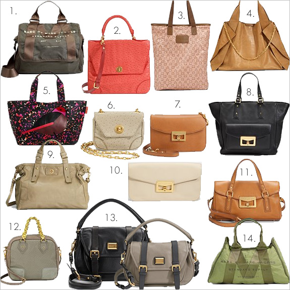 I came up with a mix of the latest Marc by Marc Jacobs bags that I like and ...