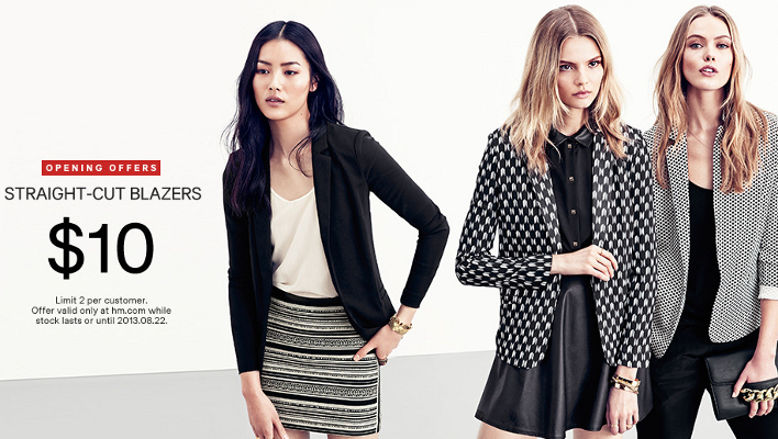 H&m shipping cost