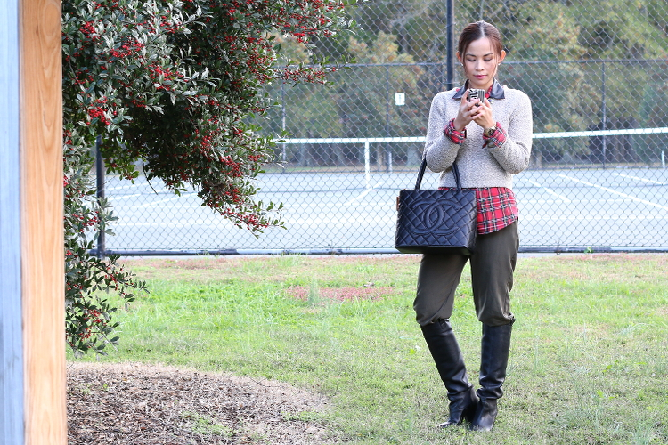 Festive Mood, Red Green Tartan #OOTD, outfit, holiday outfit