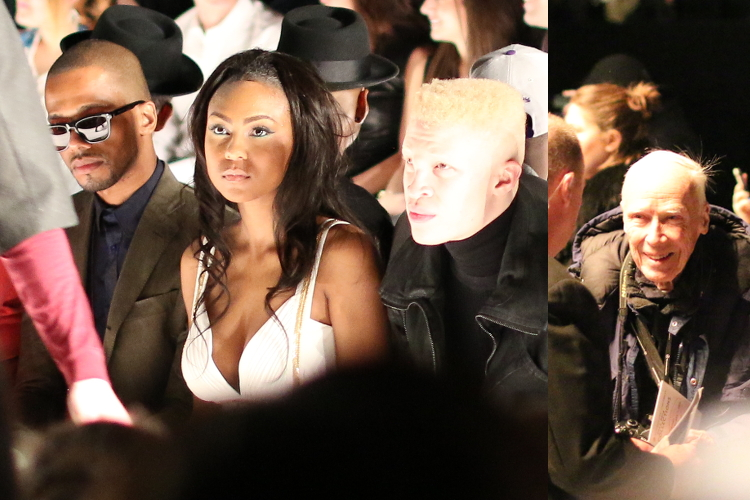 Celebrity Spotting, academy of art university fashion show, Eric West, Tashiana Washington, Bill Cunningham