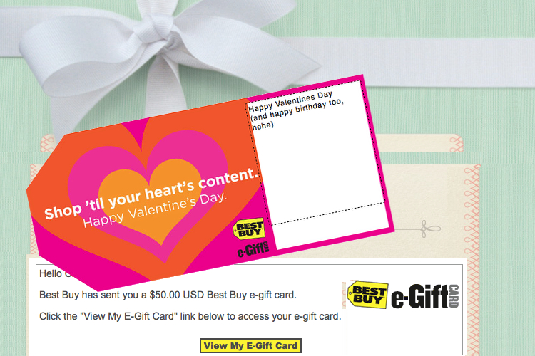 Valentines Day Gifts for him, Best Buy, gift card, electronic gc
