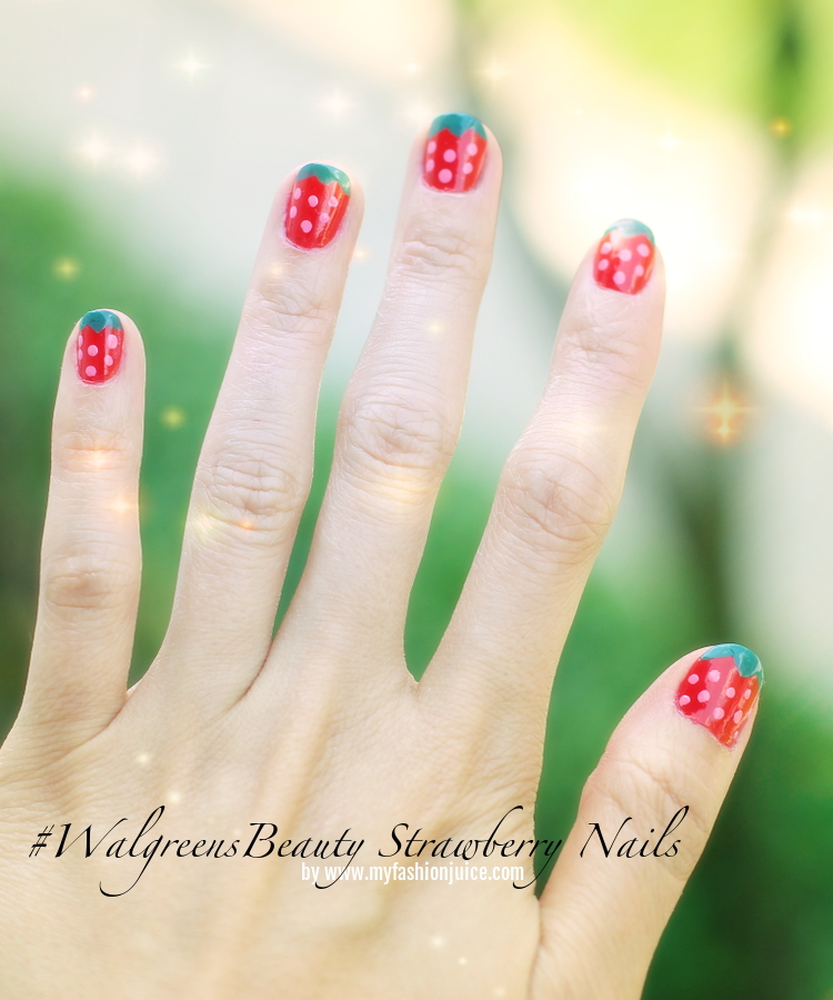 Berry delicious nail color with walgreensbeauty my fashion juice strawberry nails nail art walgreensbeauty shop cbias revlon prinsesfo Images