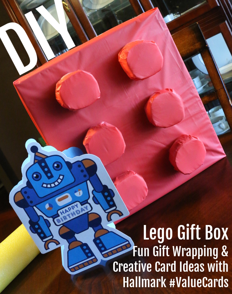 Hallmark, #ValueCards, greetings, gift wrap, robot, DIY lego gift box, Walmart, #shop, #cbias, #collectivebias