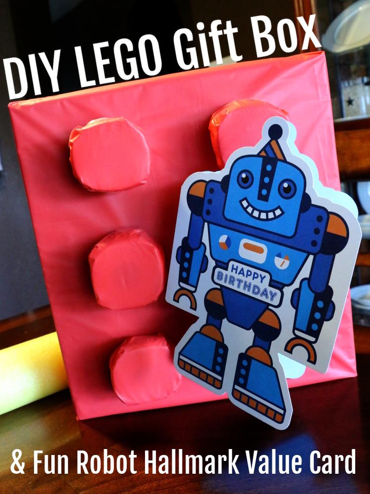 Hallmark ValueCards lego giftwrap robot card shop diy10 DIY Gift Wrap and Creative Card Ideas with Hallmark