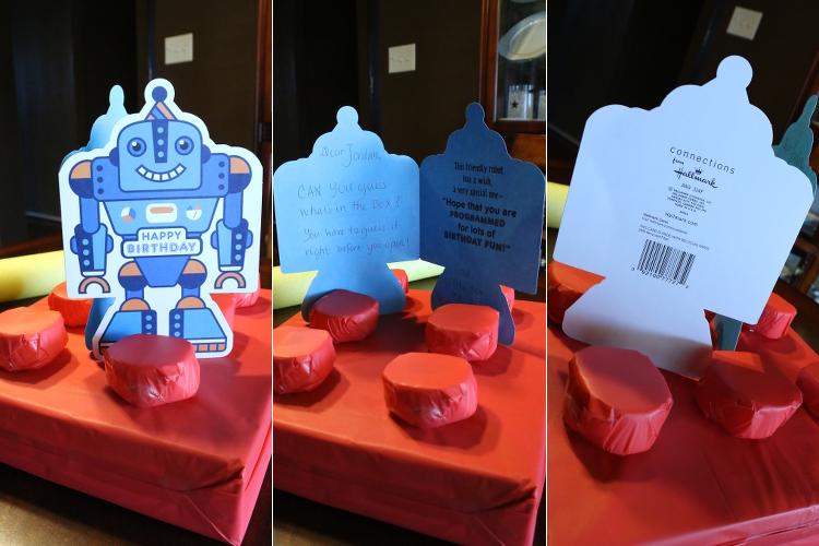 Hallmark ValueCards lego giftwrap robot card shop diy9 DIY Gift Wrap and Creative Card Ideas with Hallmark
