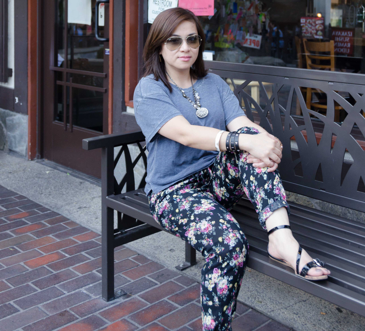 ShopLately, Floral Pants, Bangle, Earrings, Summer Fashion, #OOTD, style, outfit