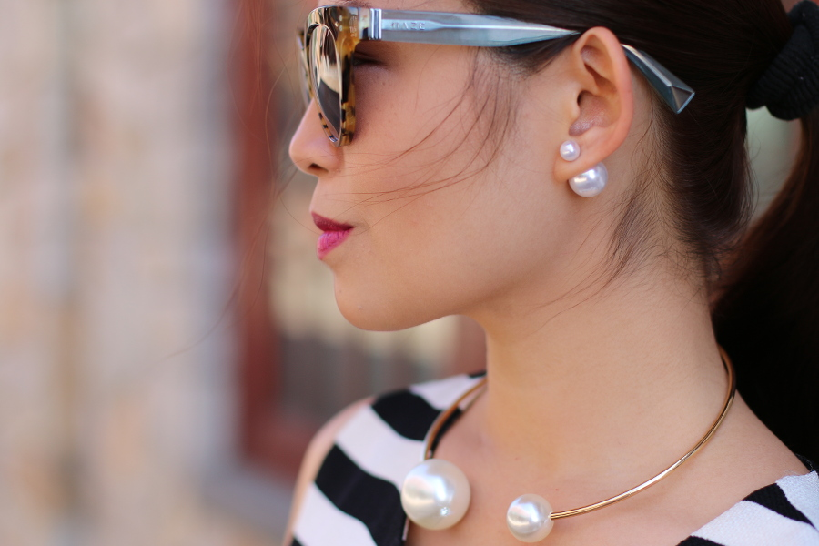 Double pearls accessories, outfit of the day, #ootd, fashion, style, myfashionjuice, fashion inspiration, lookbook