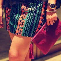NYFW After Party outfit, look, Chantilly Dallas skirt, aztec mini, #MBFW, #NYFW, outfit, style, GiGi New York clutch