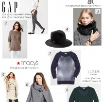Weekend Sales Guide, Gap, Banana Republic, Macys, J. Crew Factory