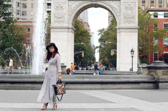 Zaful dress, washinton square, new york, NYFW, Fashion Week
