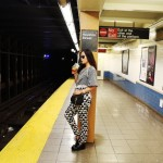 New York subway, Mara Hoffman, Pink Basis, Chloe mini Drew bag, subway, NYFW