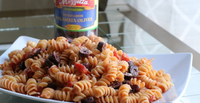 Tomato Olive Rotini Recipe + Holiday Sweepstakes