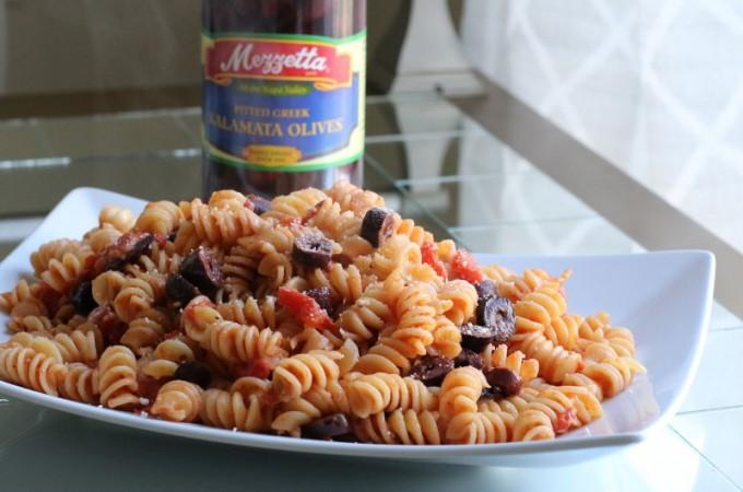 Tomato Olive Rotini Pasta Recipe