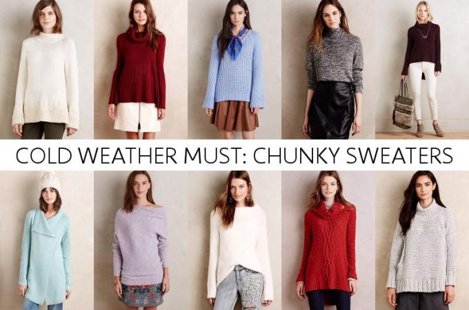 Chunky sweaters sale